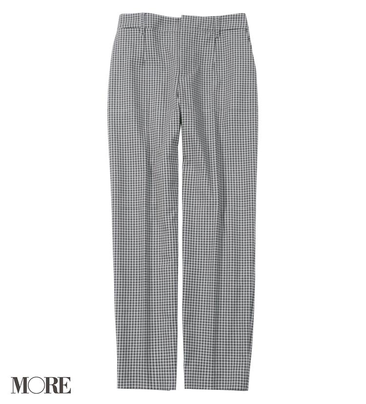 清潔感と上品さが求められるからルーニィのチェック柄パンツが使える