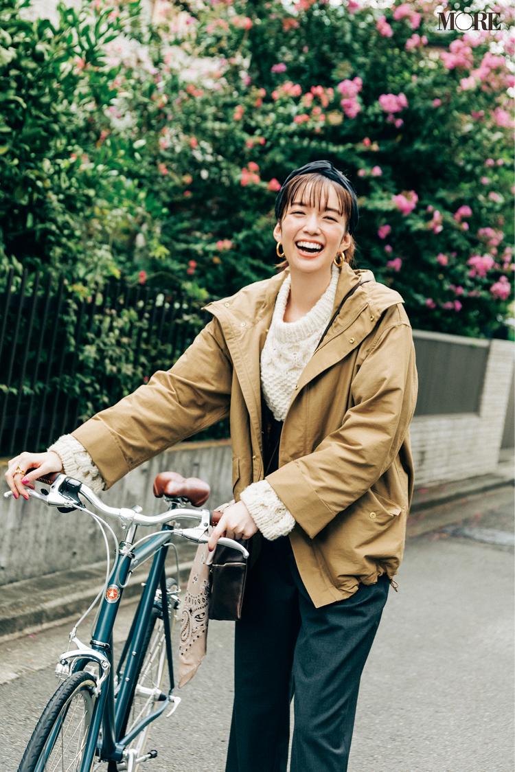 自転車通勤にもおすすめのショート丈アウターは今年ならマウンパ