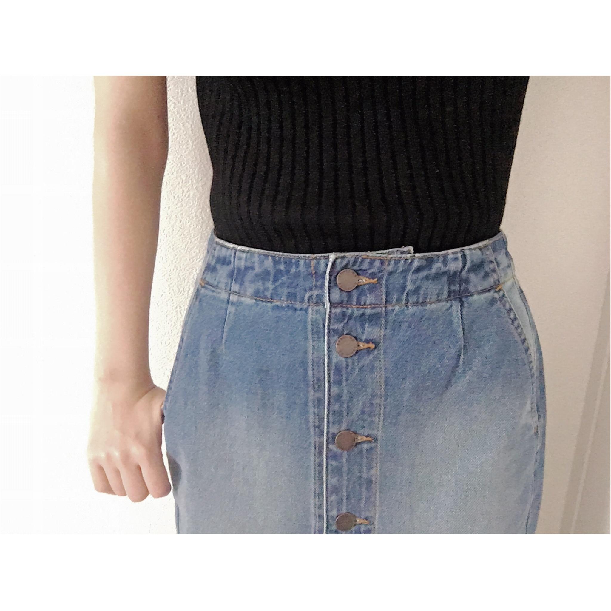 ★《GU》のミディスカートで、high & lowファッション☺︎_2