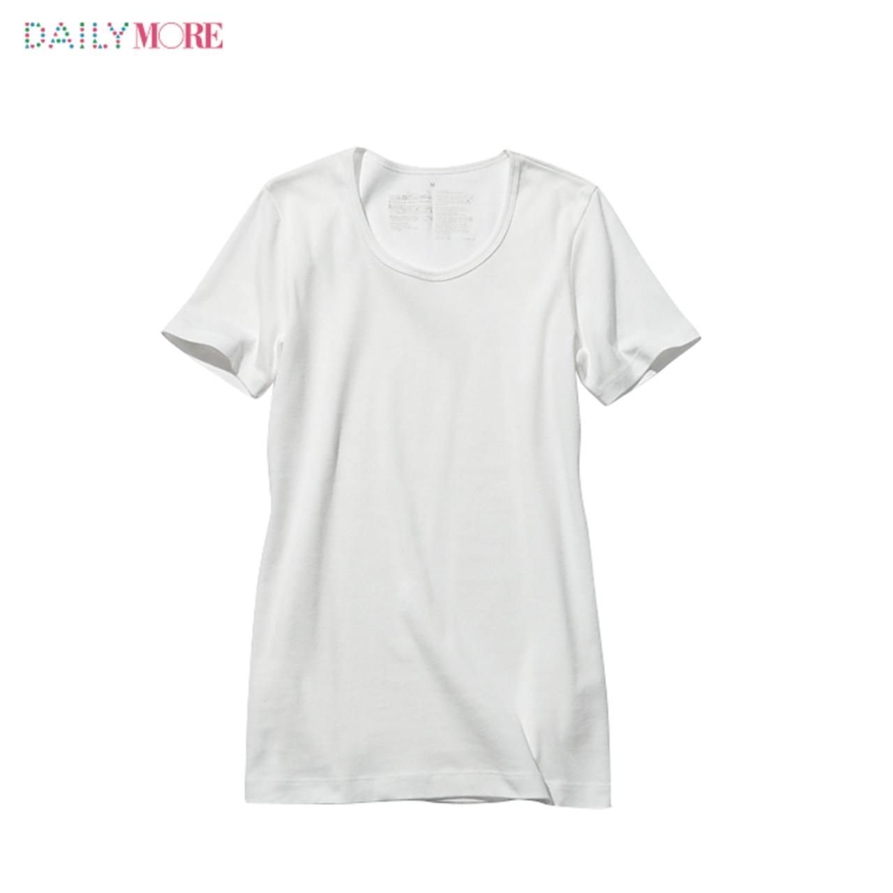 シルエットも素材もこだわりまくりの4タイプ!!【無印良品】の白Tシャツのここがスゴイ!_2_3