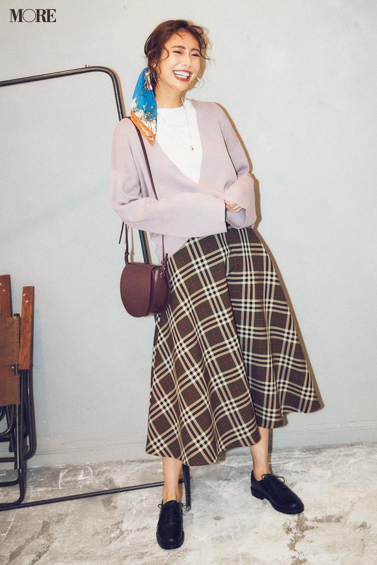 【今日のコーデ】<土屋巴瑞季>新しい週の始まりに、レディなムードで楽しめるチェック柄スカートを新調♡_1