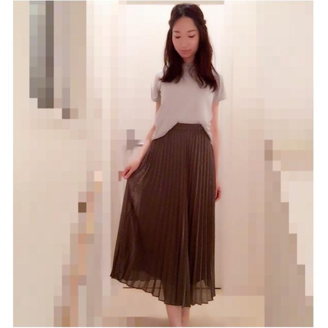【UNIQLO】美脚になれる!シフォンプリーツスカート(¥1,990)でプチプラコーデ♡UNIQLOのお得情報をリアルタイムにGETする方法も♩≪samenyan≫_5