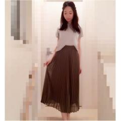 【UNIQLO】美脚になれる!シフォンプリーツスカート(¥1,990)でプチプラコーデ♡UNIQLOのお得情報をリアルタイムにGETする方法も♩≪samenyan≫