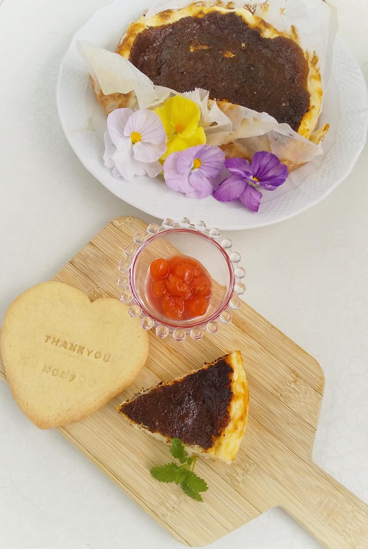 《happyおうちカフェ》バスクチーズケーキにスタンプクッキーで楽しくカフェ気分を_1