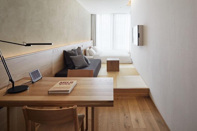 『MUJI HOTEL GINZA』の9タイプの客室、全部見せます♡ 家具からベッド、食器まで。無印良品の名品が使える試せる買える「無印良品 銀座」!_4_5