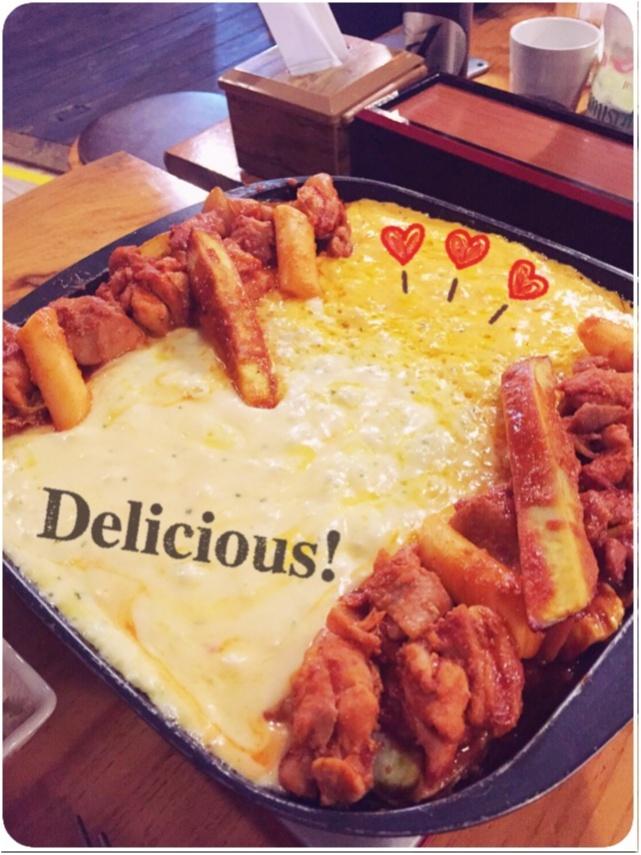 いまキテるあったかグルメはコレ!一度食べたらやみつき♡とろ〜りチーズを絡めて食べる「チーズタッカルビ」☻_1