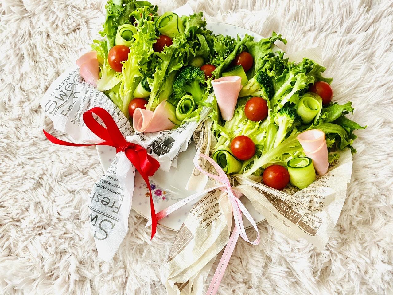【おうちごはん】実は超簡単!?食べられる花束《ブーケサラダ》が華やかで可愛い♡_1