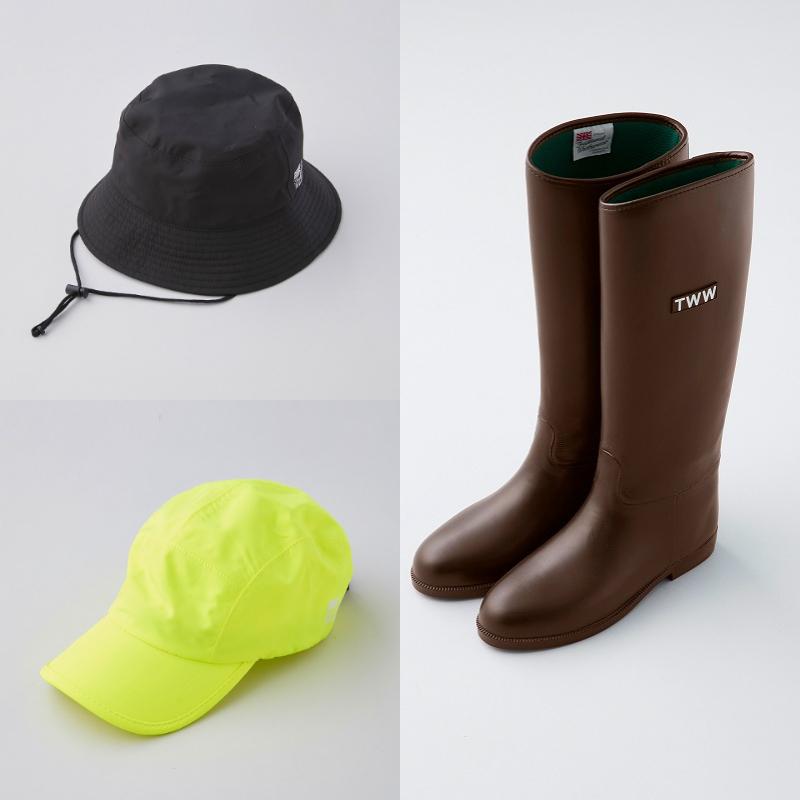 『トラディショナル ウェザーウェア』帽子、ブーツの画像