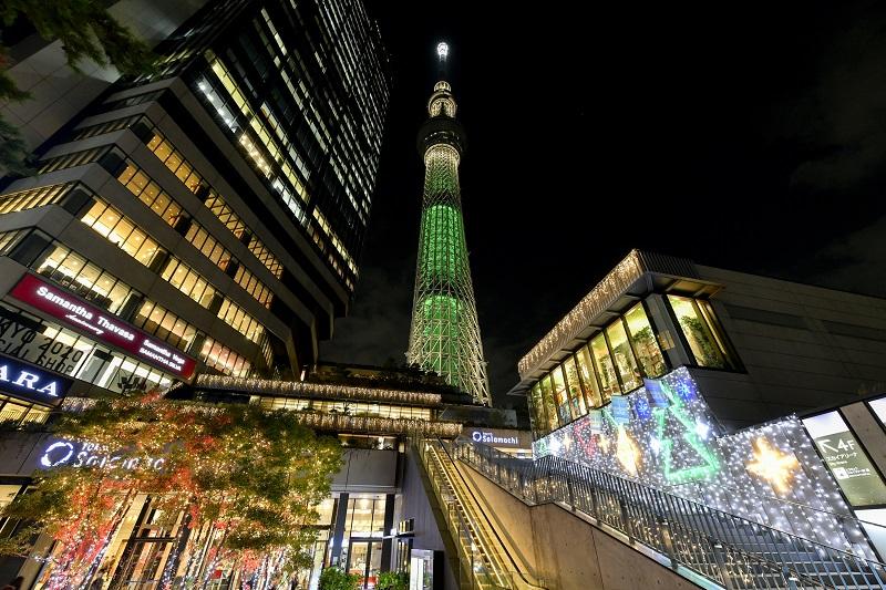 『東京スカイツリー®』天望デッキへの優先入場も。クリスマスシーズンは、ナイトビューチケットが断然おすすめ! 限定グルメも可愛い!!_1