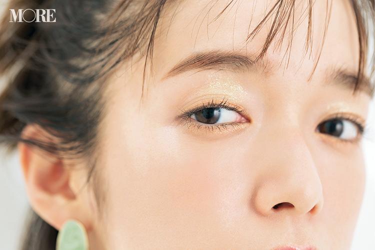 佐藤栞里が『エスプリーク』のアイシャドウでエモさあふれる旬顔に。限定色のライムグリーンで春メイク♡【のぼり坂コスメ】_2