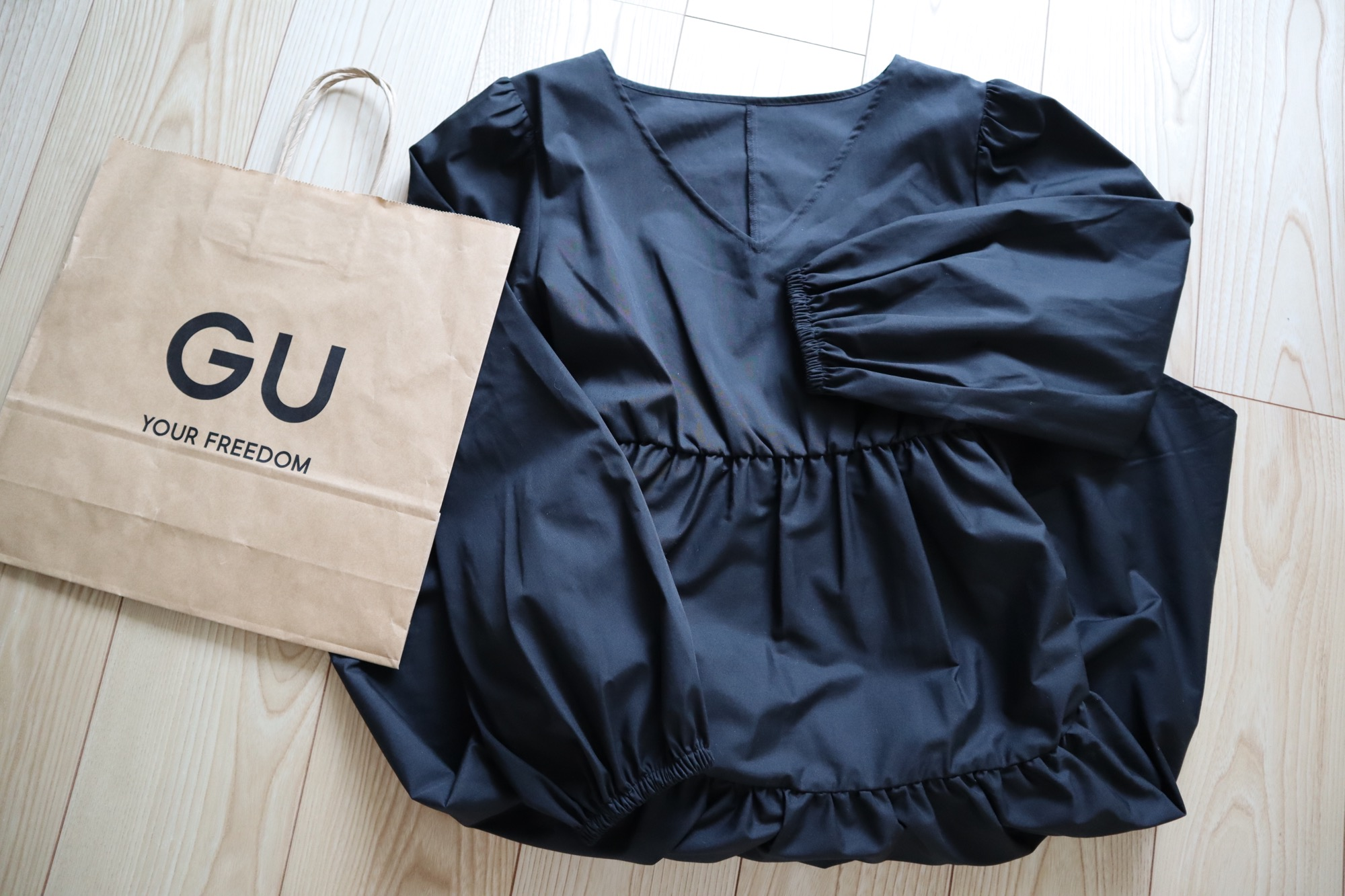 《オンラインストアで即完売❤️》【GU】トレンドのティアードワンピースをgetしました☻_1