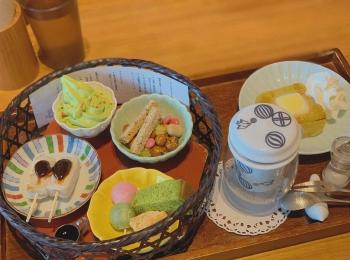 【おすすめ抹茶スイーツ】大人気❤️築地本願寺カフェ《Tsumugi》の絶品スイーツset♪