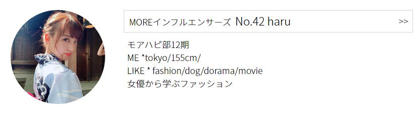 インフルエンサーズ  No.42 haruプロフィール
