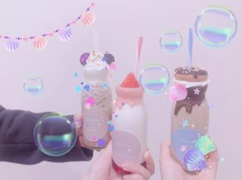 【牛乳びんに入っちゃった❤︎】フォトジェニックドリンクが可愛すぎ(๑╹ω╹๑ )