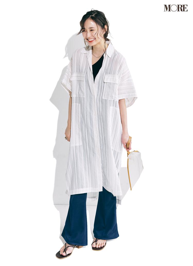「コーデの50%を白にする」とおしゃれに見える。シャツ、パンツ、Tシャツで白を上手に取り入れてみて_1