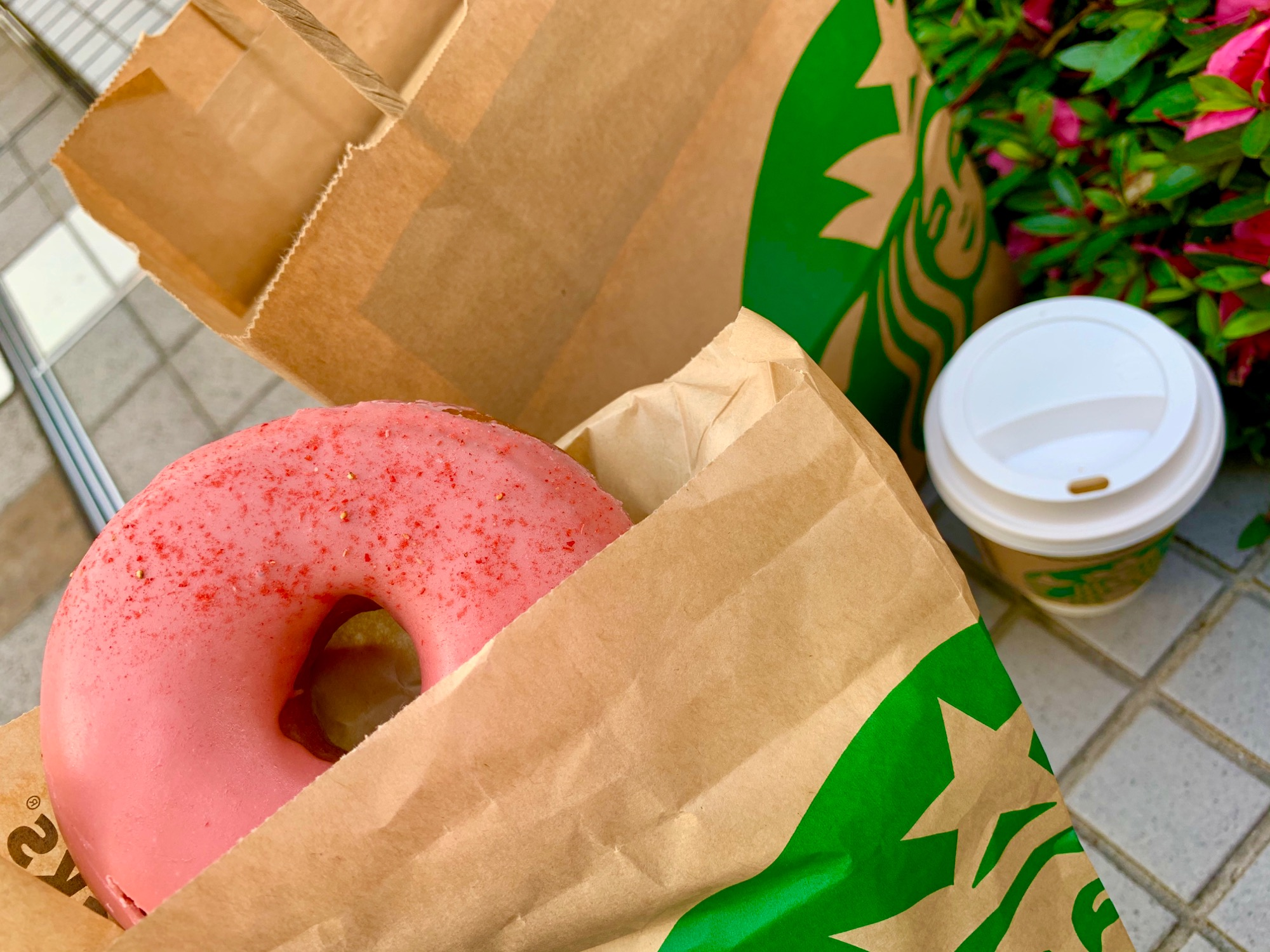 《レジ横foodに注目❤️》4月に食べれなかった念願の【スタバ】いちごソースドーナツが美味しすぎる☻!_1