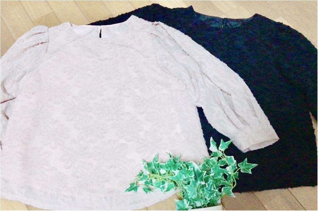 "【GU】春の新作ブラウス❤︎春ファッションに""ジャカードブラウス""は欠かせない!「花柄+シースルー」の《神ブラウス》がほんとに神だった。_9"
