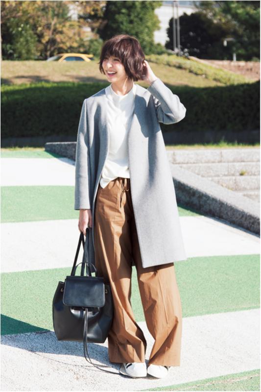 【今日のコーデ/篠田麻里子】一人で外回りの水曜日は旬のワイドパンツに頼っちゃう♪_1