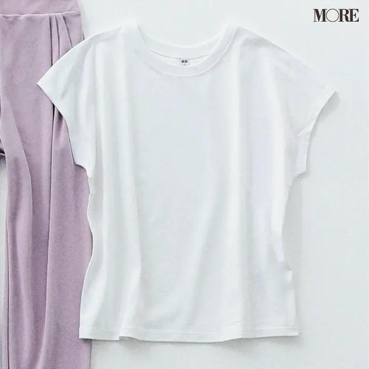 ユニクロの着痩せするTシャツ