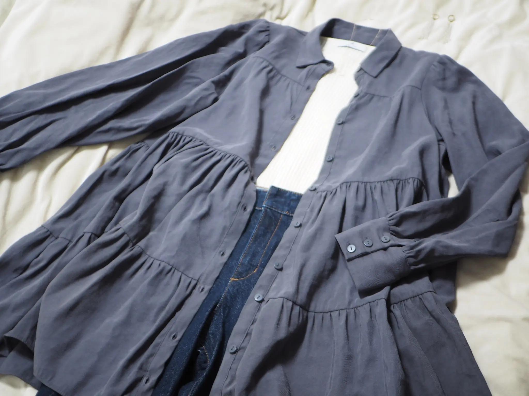『ZARA』のシャツワンピース