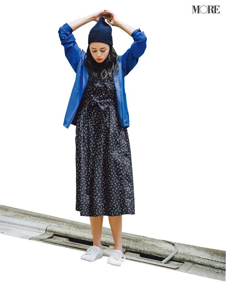 「ぺたんこ靴のブレザー」でつくるパリジェンヌ風の休日コーデ4
