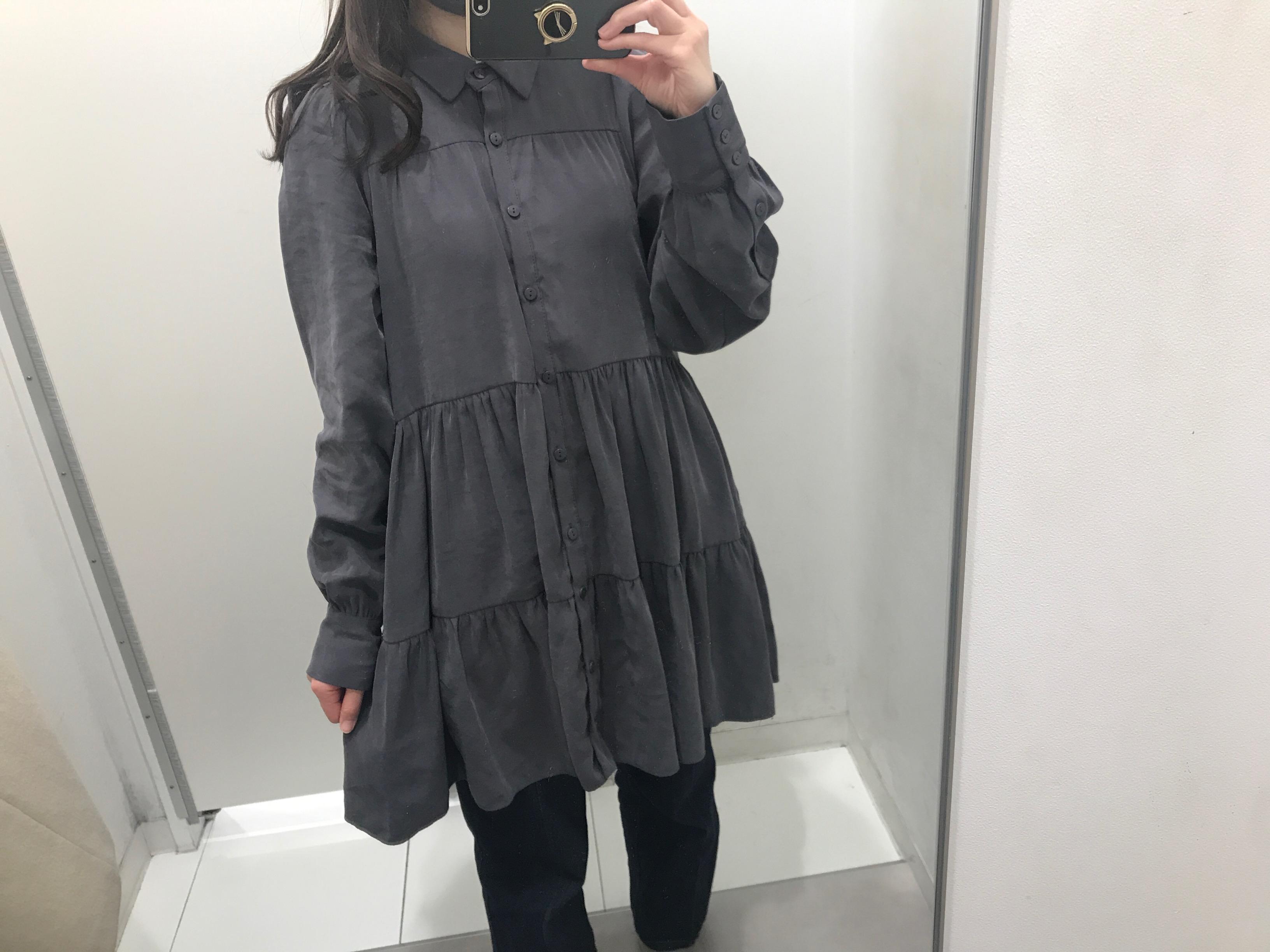 【ZARA】今から春まで着回せる! おすすめのトレンド服《ティアードシャツ》★_5