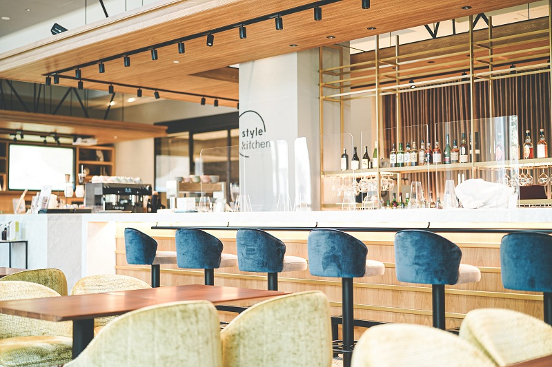 【名古屋のおしゃれホテル】『ニッコースタイル名古屋』のカフェ「Style Kitchen」内観