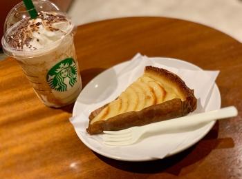 《レジ横foodに注目❤️》新作•秋メニュー!【スタバ】フランス産アップルのタルトが美味しすぎる☻