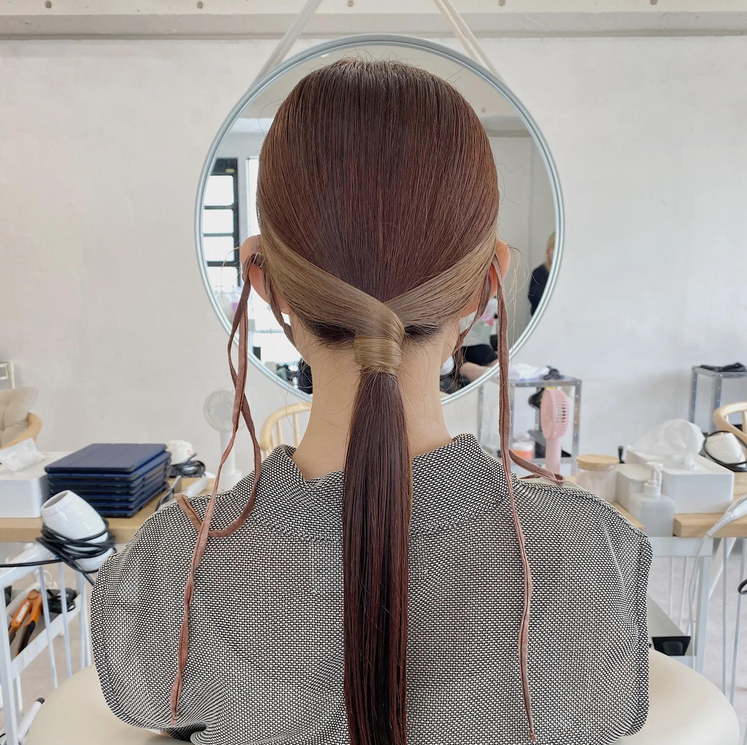 まとめ髪のヘアアレンジ