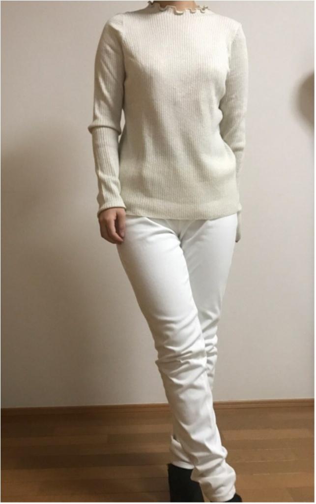 ユニクロ春の名品『シャイニーリブフリルネックセーター』を着てみた!まとめ♡_1_1