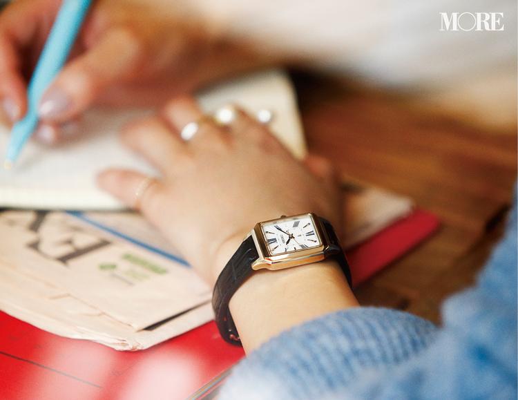 革ベルトの腕時計なら、アクセに似合う、引き立て合う! 「先輩見え」ウォッチで気持ちを上げて_1