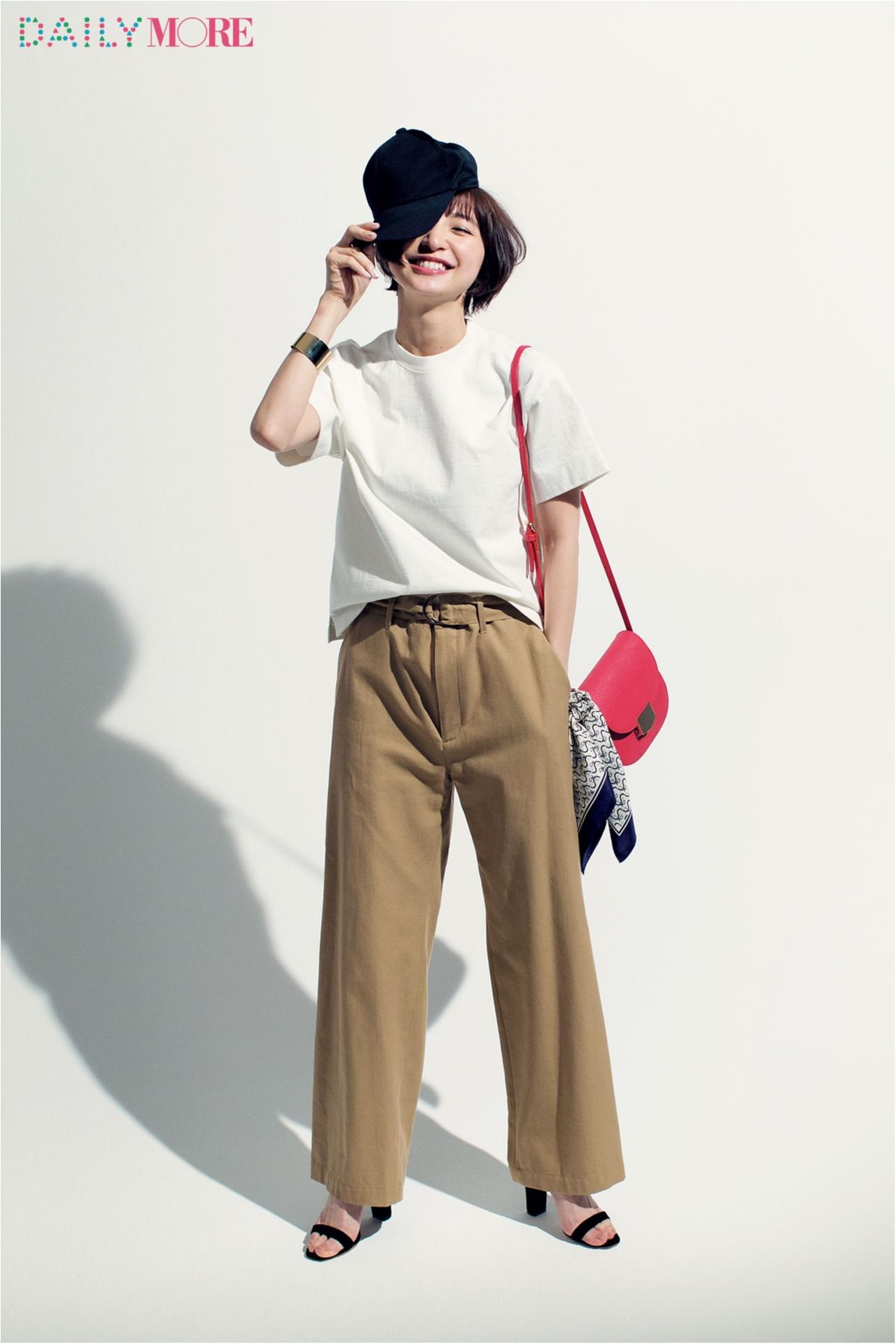 篠田麻里子がこだわる白Tシャツ講座。【MHL.&オーラリーの肉厚T編】_4