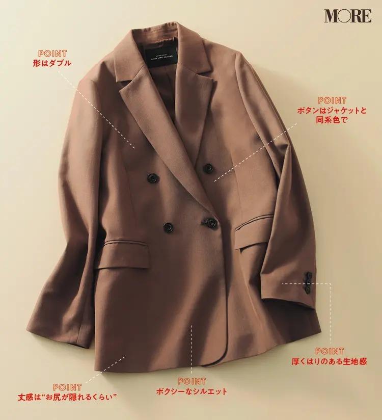 2020秋冬トレンドのベージュジャケット