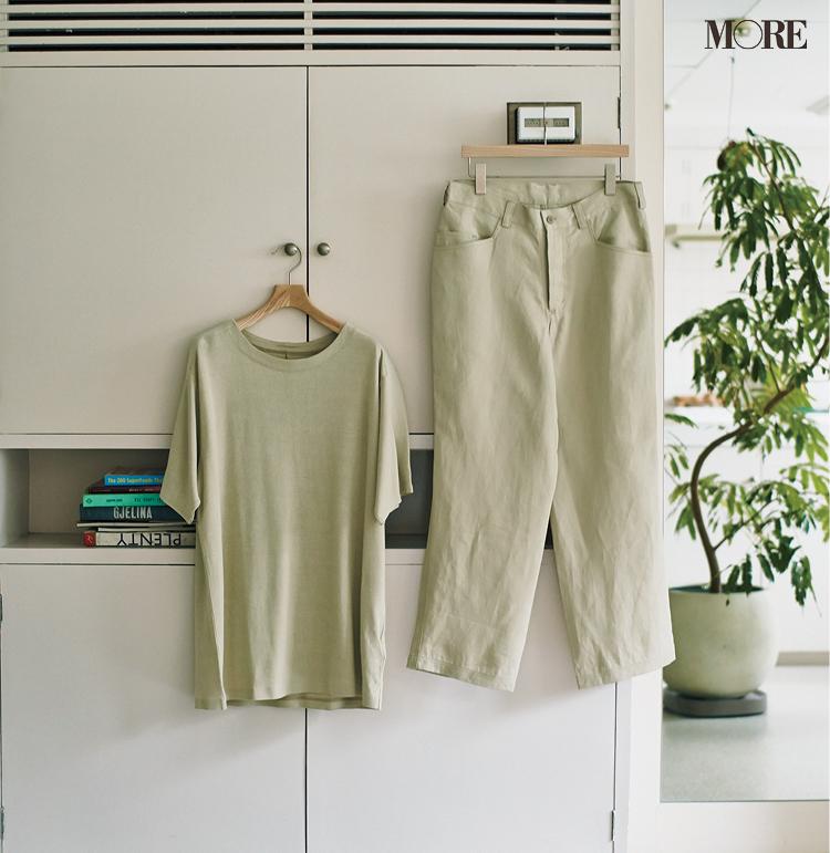 和紙を使った素材 Tシャツとパンツ