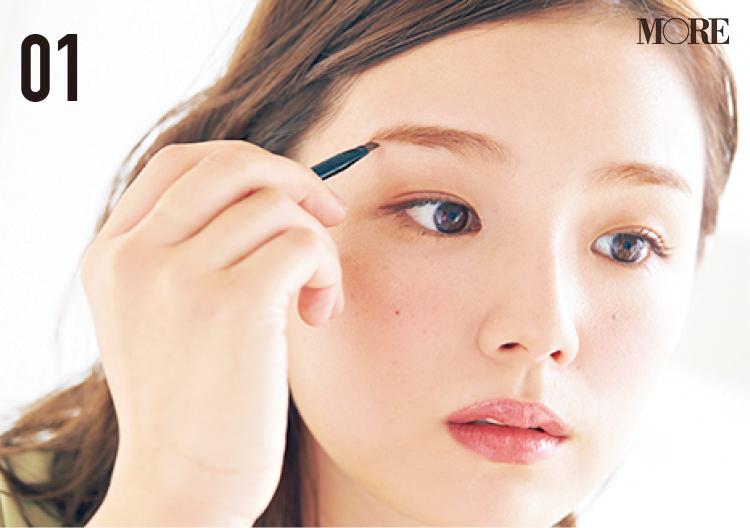 篠崎愛さんの「赤ちゃんうぶ眉」になりたい‼ 10年以上愛用の『KATE』アイブロウなど、篠崎さん眉の秘密、教えてもらいました_3