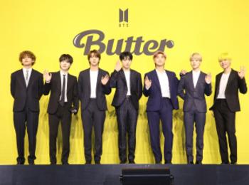 "【BTS 会見写真16枚!】""お気に入りは自分のパート""合戦勃発!? 「Butter」発売記念 グローバル記者会見 PhotoGallery"