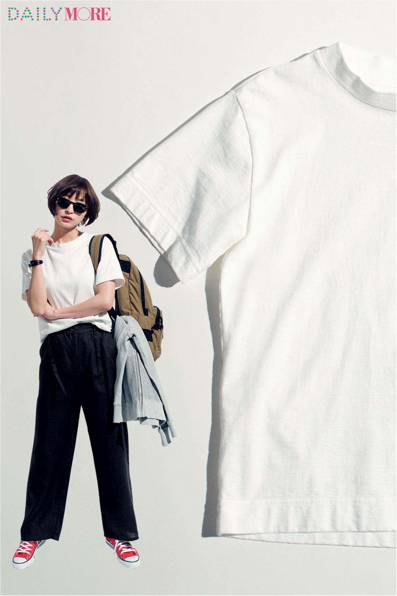 篠田麻里子がこだわる白Tシャツ講座。【MHL.&オーラリーの肉厚T編】_1