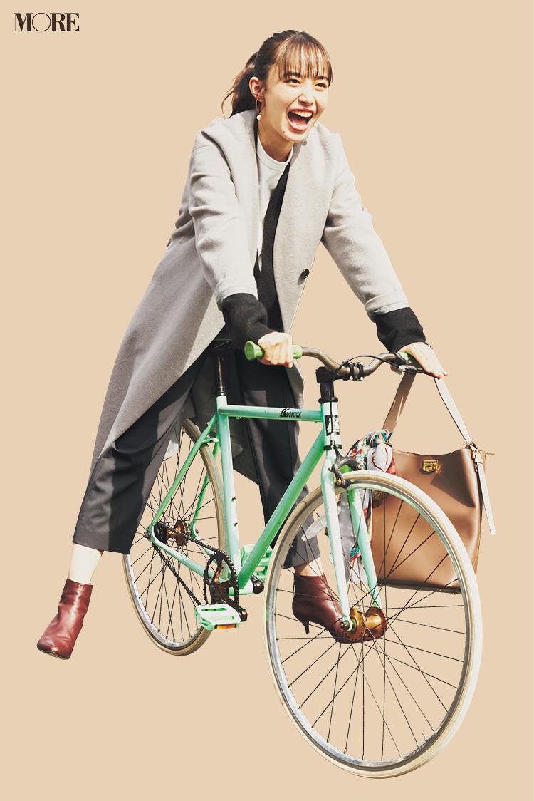 近場は自転車移動、だけど……⁉︎ 井桁弘恵主演『イージーパンツでノンストレスコーデ』着回し14日目_1