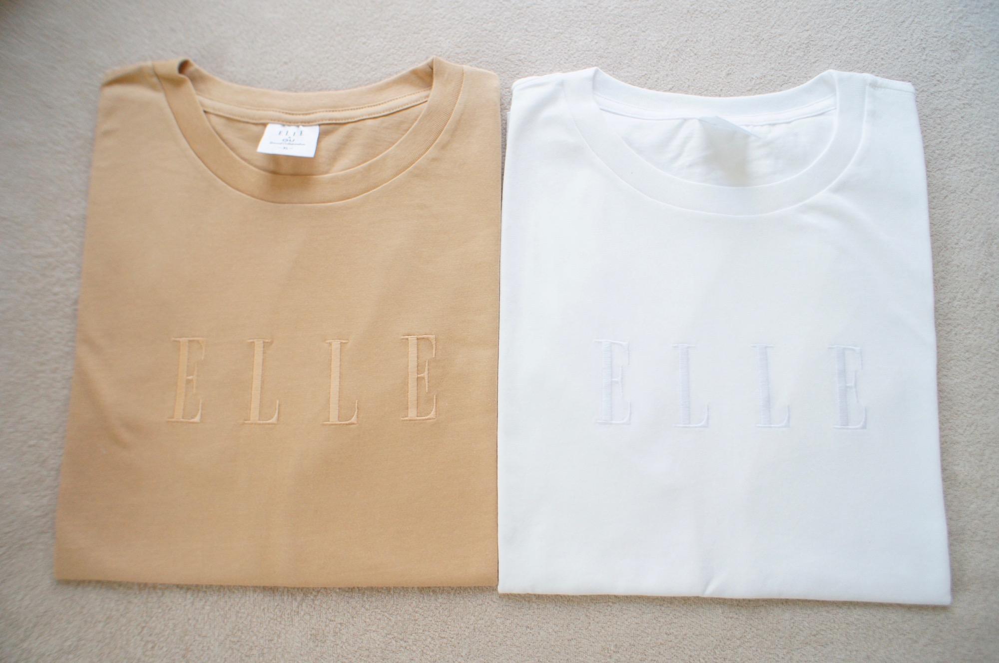 《一瞬で売り切れた!❤️》話題の【GU × ELLE】コラボTシャツを奇跡的にgetしました☻_1