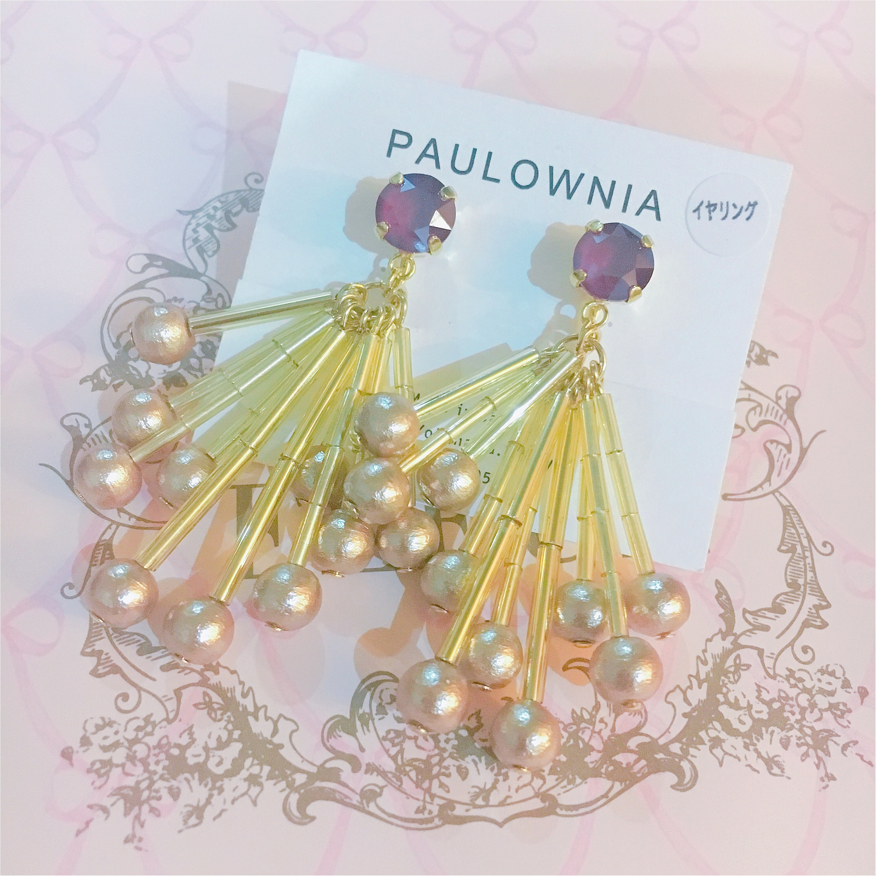 【大ぶりイヤリング】年末年始のイベントにもぴったり!paulowniaさんのイヤリング『スワロフリンジ』がかわいい♡♡_1