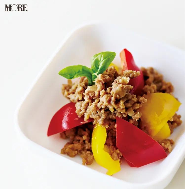 【作り置きお弁当レシピ】4. ひき肉の「そぼろでガパオライス風」