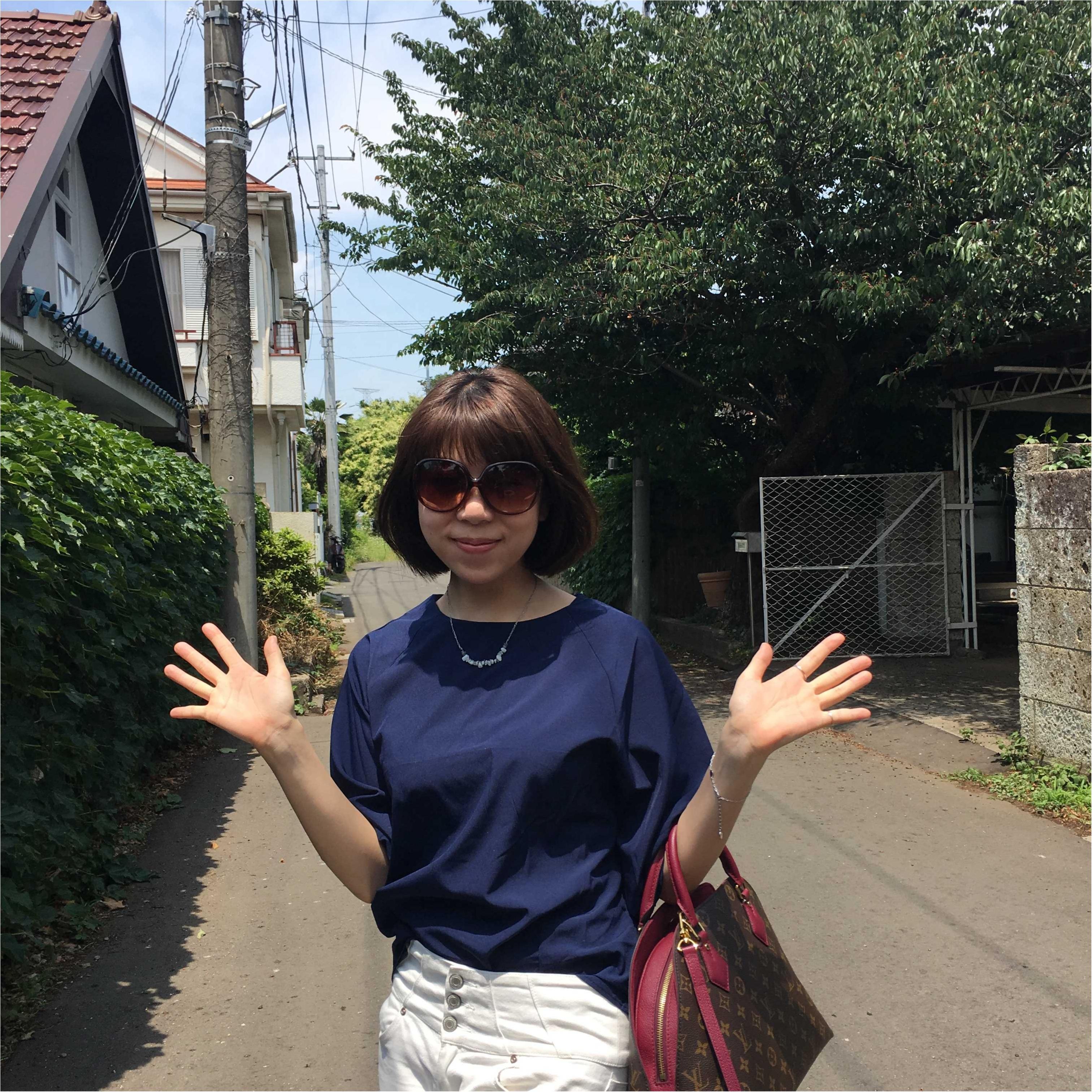 ✳︎休日コーデ✳︎白パンツ×シャツ_3