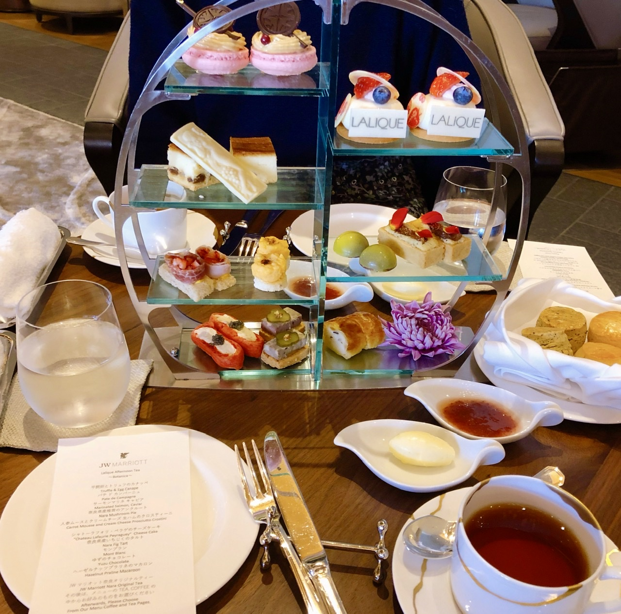 JWマリオットホテルのアフタヌーンティの写真