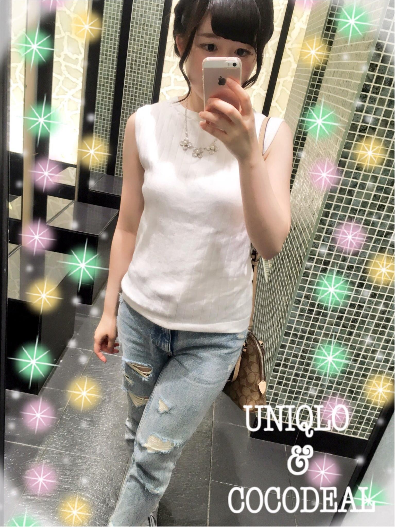 UNIQLOのノースリセーターを使った花火大会カジュアルコーデ♡_2