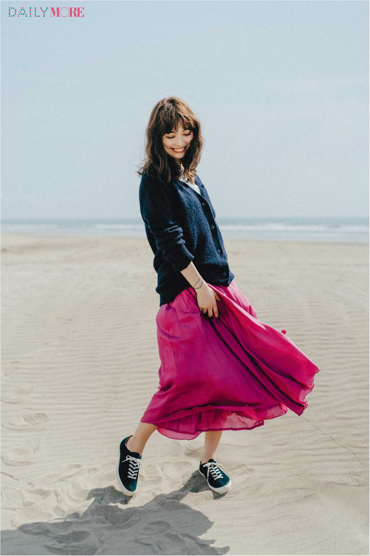 """【今日のコーデ/内田理央】鮮やかで上品なサテンのイレヘムスカートで""""女の子らしい""""の一歩先へ。_1"""