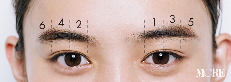 眉を左右対称に描く方法や、二重幅が違う場合のアイラインの入れ方。メイクのお悩みを解決するテクニックを伝授!【2020年は可愛い×キレイ美容】_3