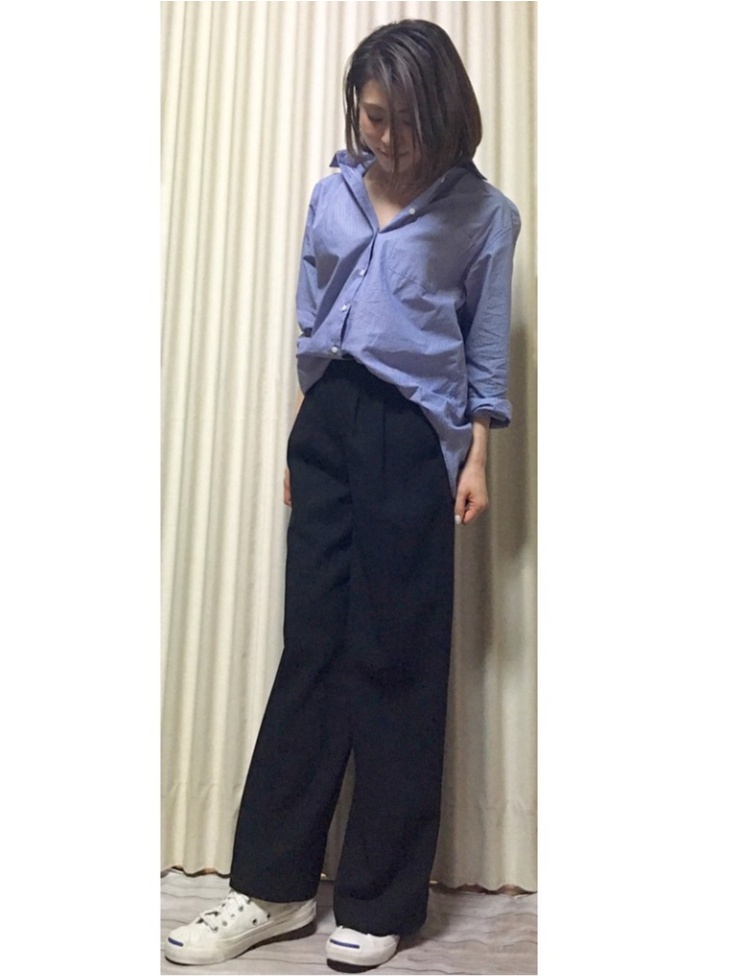 Coordinate...ビックシルエットシャツとワイドパンツでつくる女性らしい、こなれコーデ☺︎_2