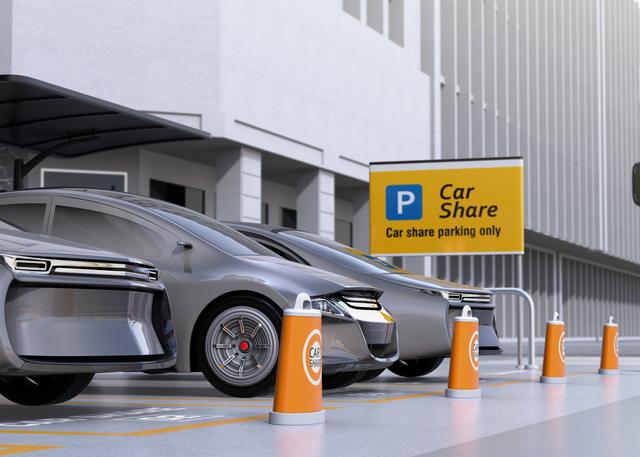 カーシェア、駐車場の様子