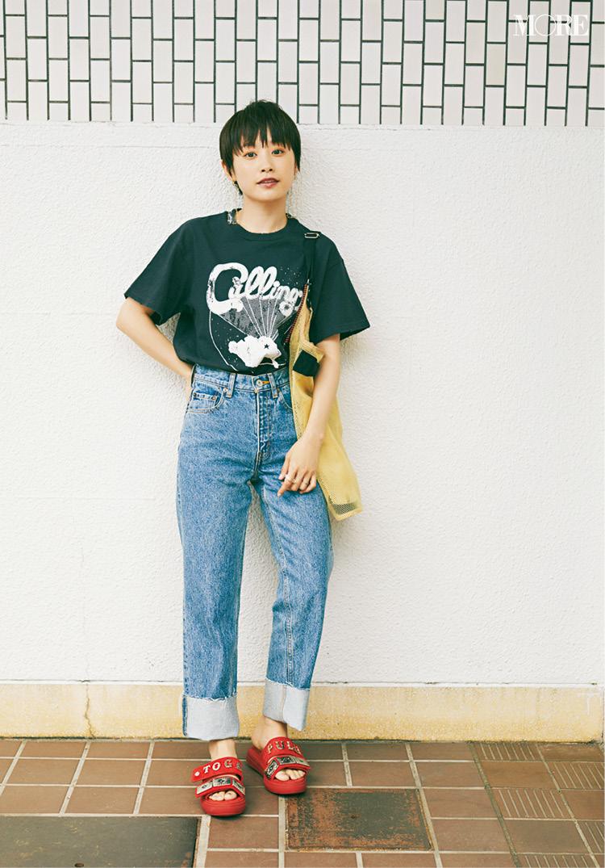 高橋愛さん(身長154cm)はぺたんこ靴でもきれいにおしゃれ♡ その秘密って?_2