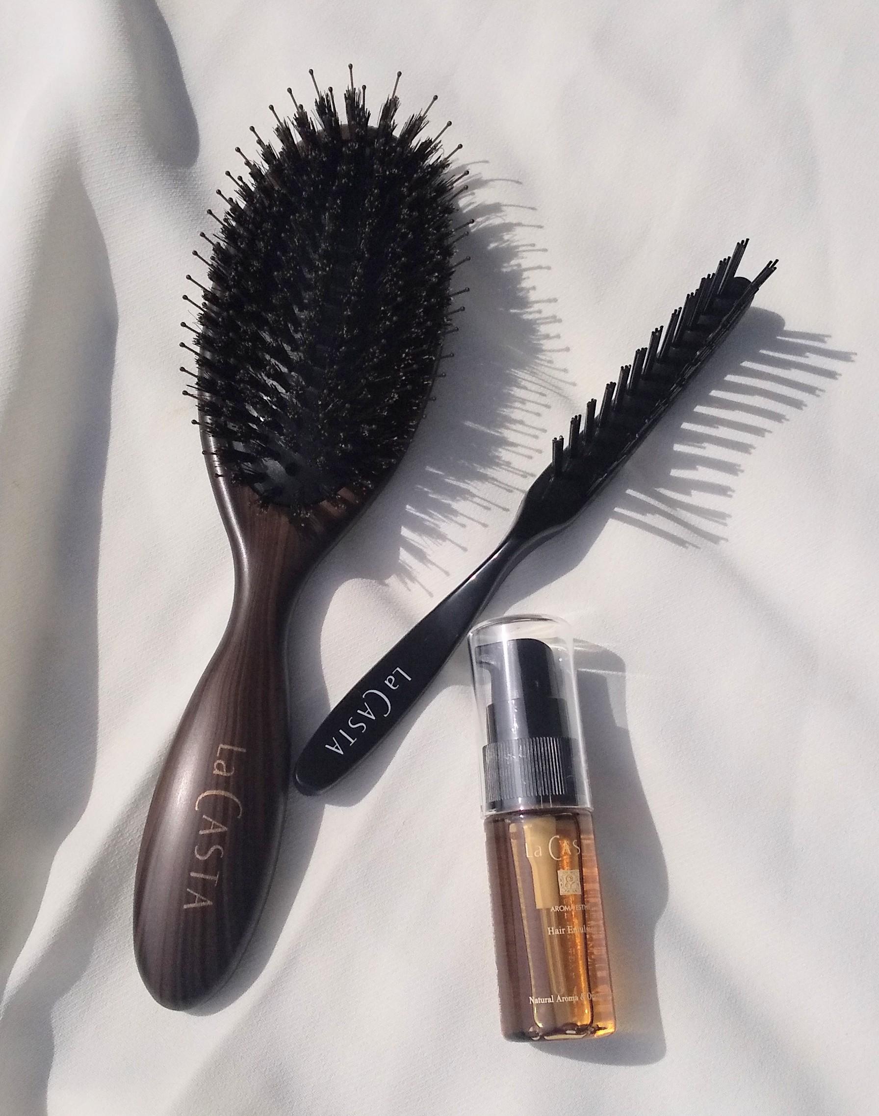 【えっ!?こんなにツヤツヤに?】La CASTAのヘアブラシで頭皮も毛先も元気に!!効果に驚き!_5